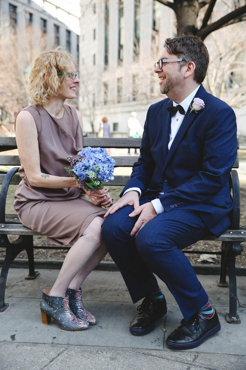 Joanne and Anthony   NYC City Hall Elopement