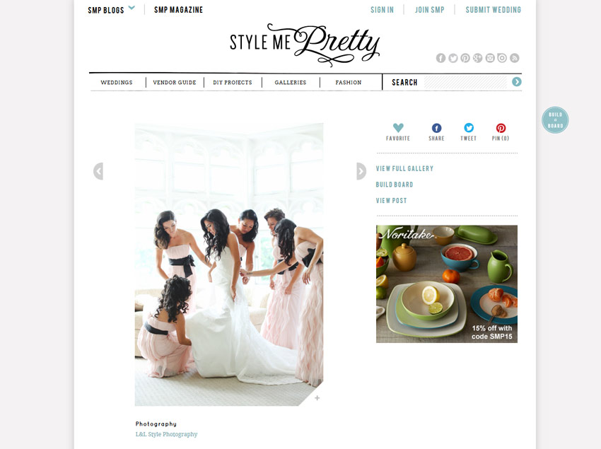 L&L Style Photo on Style Me Pretty | New York Weddings