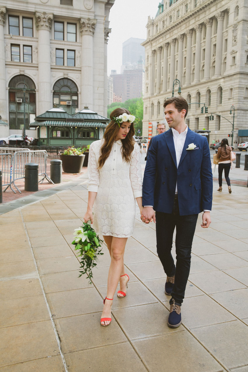 Erin & Alex Rooftop Wedding | Tribeca