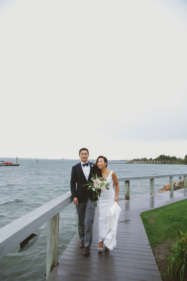 Wedding Reception At The Navy Beach Restaurant By S Even Though It Was Already Early Fall Guests Could Enjoy Tail Outdoors And Head Inside
