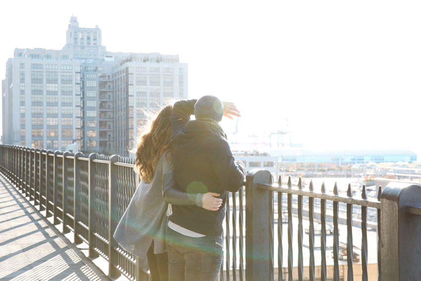 GEMMA & KEIRAN | BROOKLYN HEIGHTS PROMENADE | ENGAGEMENT SESSION