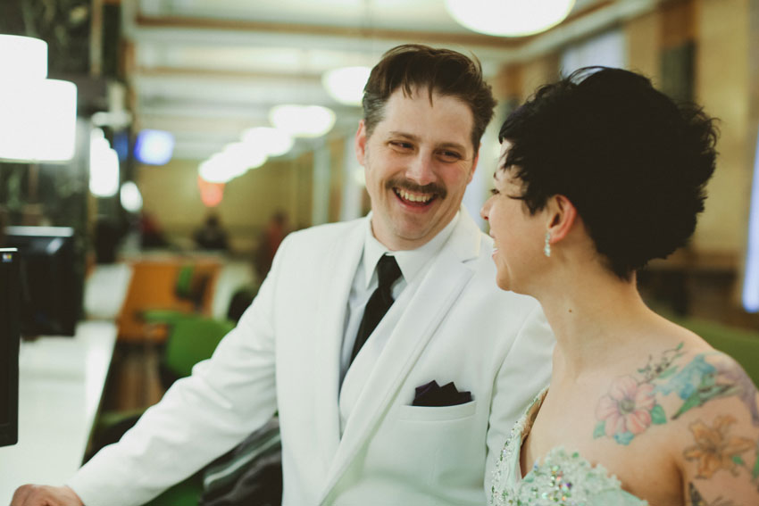 Erin & Tony | Cool NY City Hall Elopement | The High Line | East Village