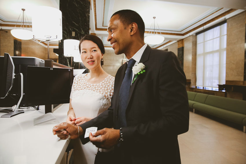 Mieko & Incas | 1 hour express NY City Hall wedding