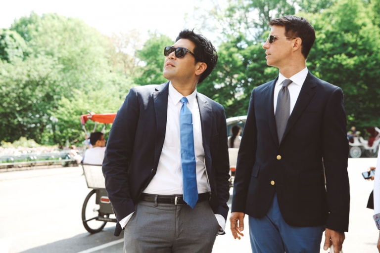 Cool gay wedding in Central Park