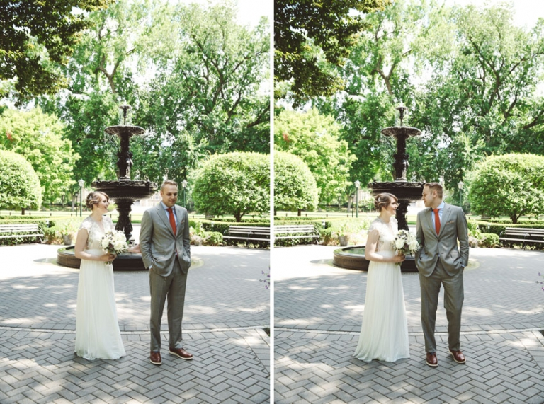 First Look Pictures At Fordham University Wedding
