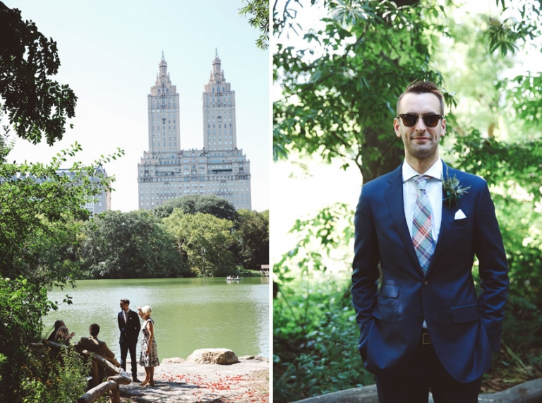 Groom for Central Park wedding