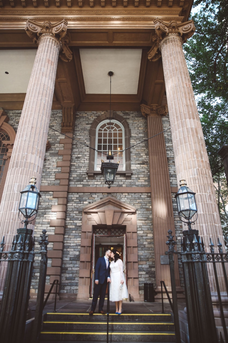 New York City Wedding St Pauls Chapel Photos