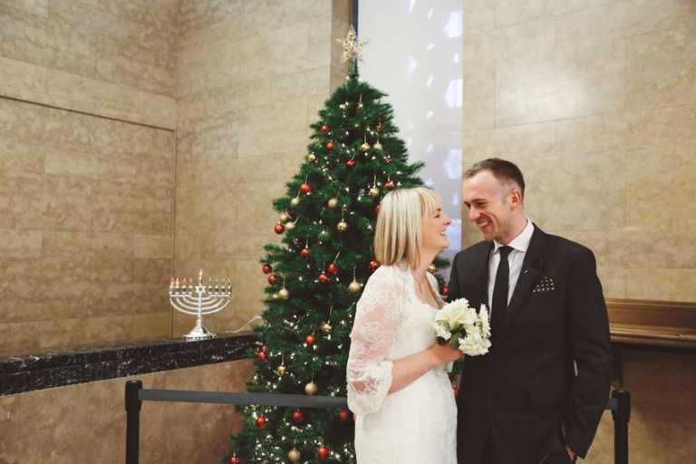 Christmas NY City Hall Wedding