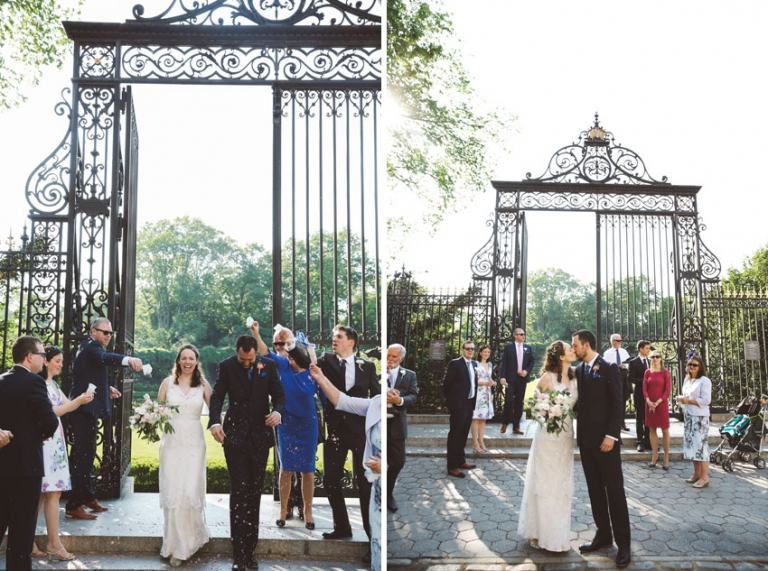 Claire Michael Conservatory Garden Wedding Jean Georges L Style Photo