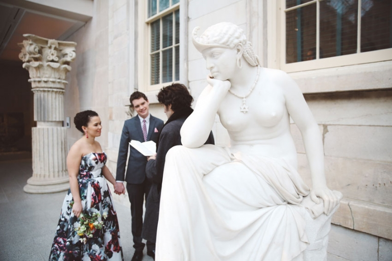 Wedding Ceremony at the Metropolitan Museum Of Art