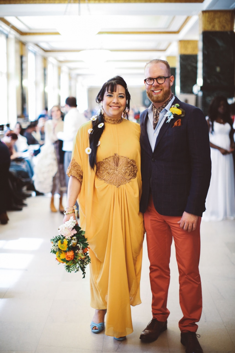 hip city hall wedding