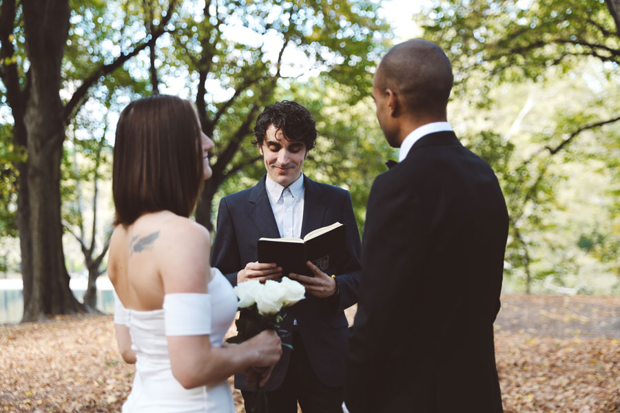 Intimate central park ceremony