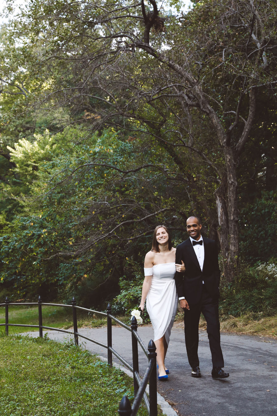 Central Park Wedding couple