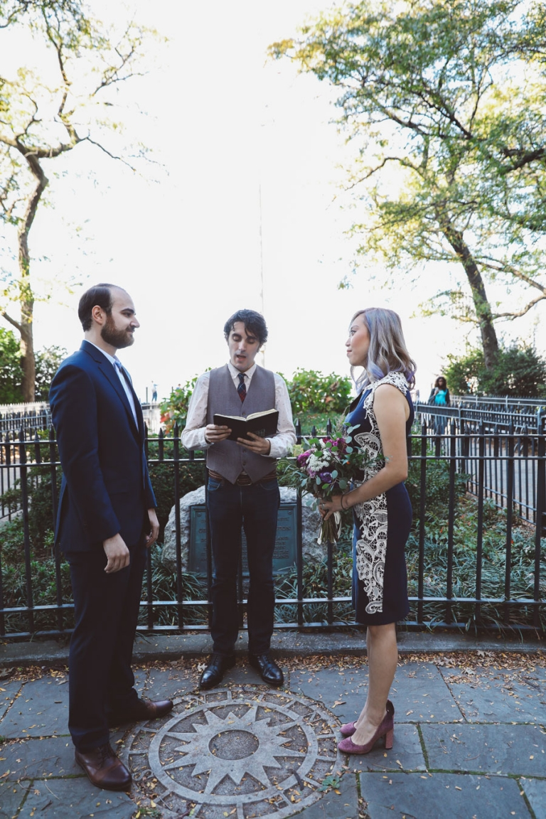 nyc elopement photographer and officiant