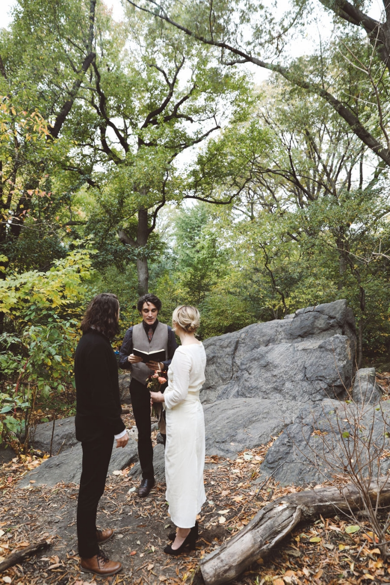 Central Park photos and officiant