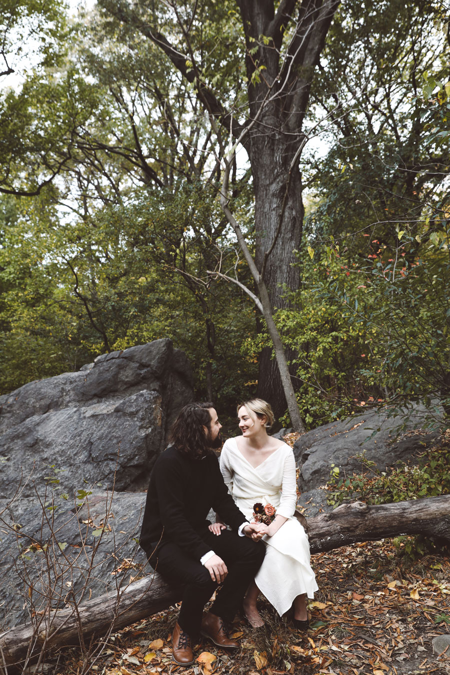 Secret wedding in Central Park