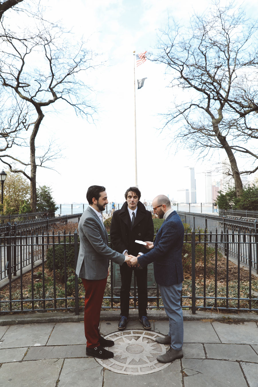 gay wedding in NYC with officiant