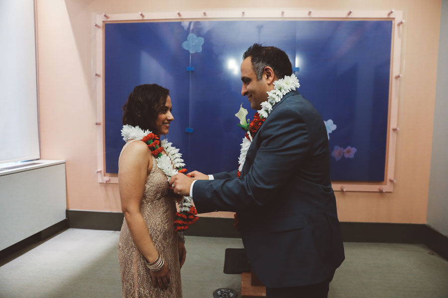 Indian City Hall Wedding