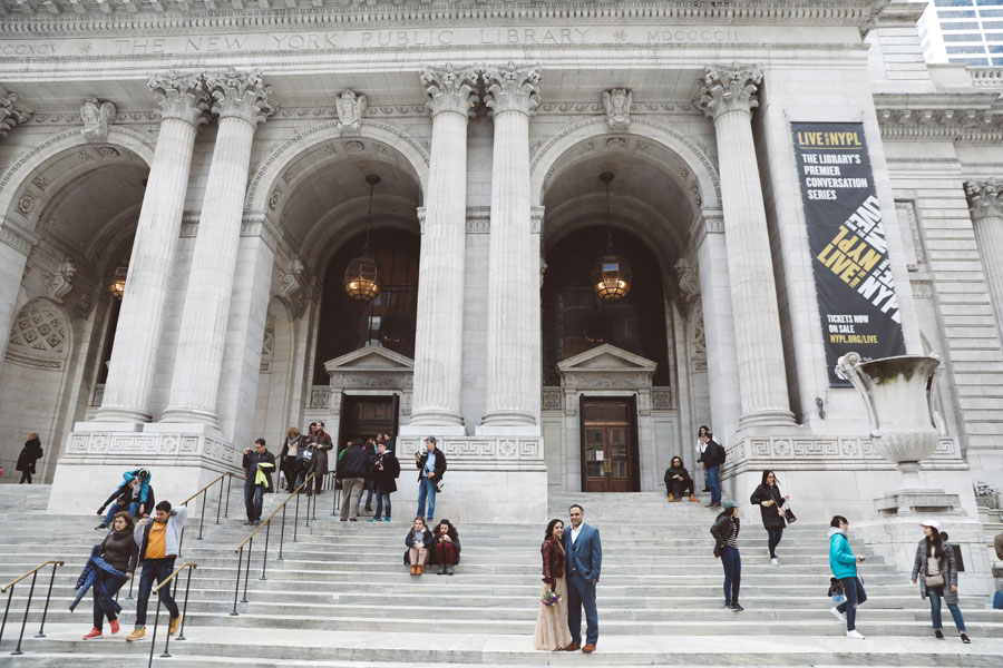NYC Public Library Wedding