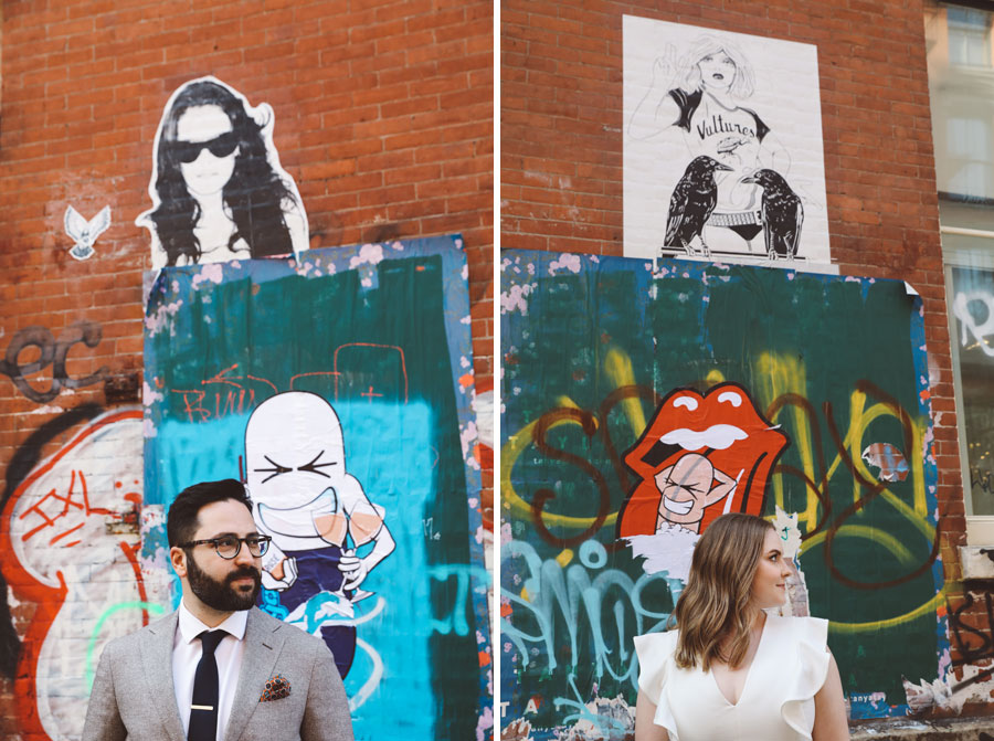 graffiti wedding NYC