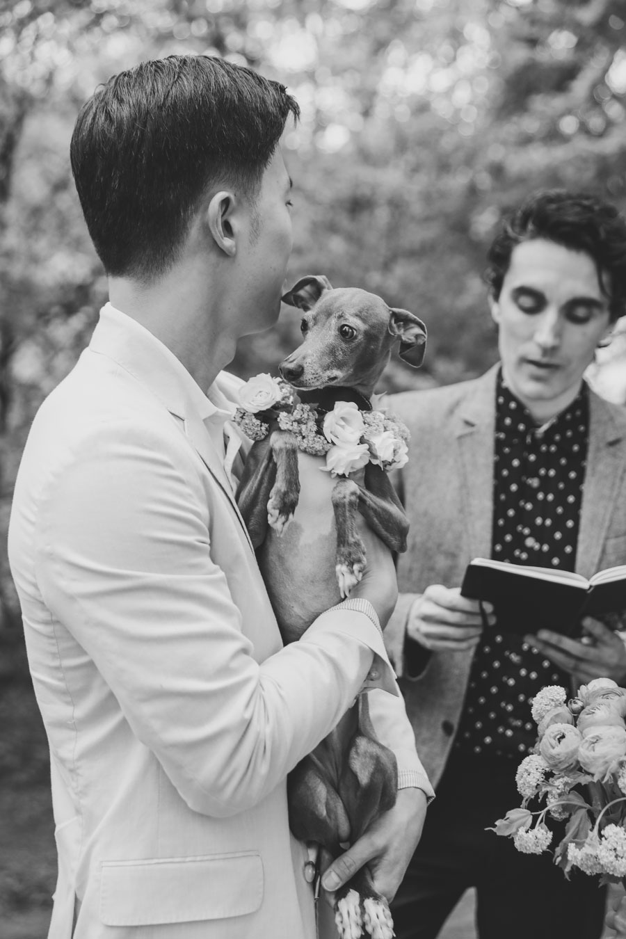 Central Park Wedding with dog