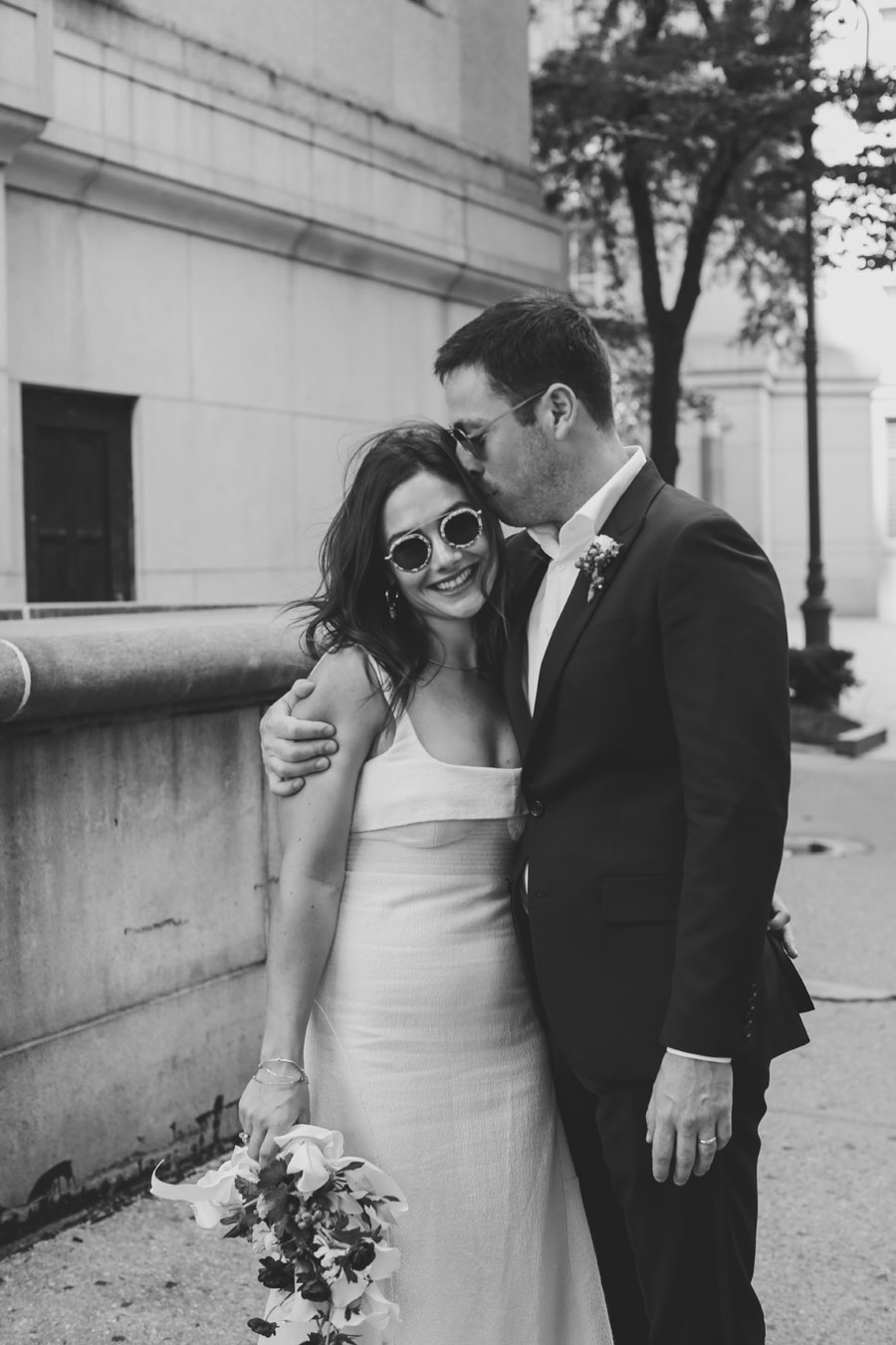 Chic Post Ceremony shoot at NY City Hall