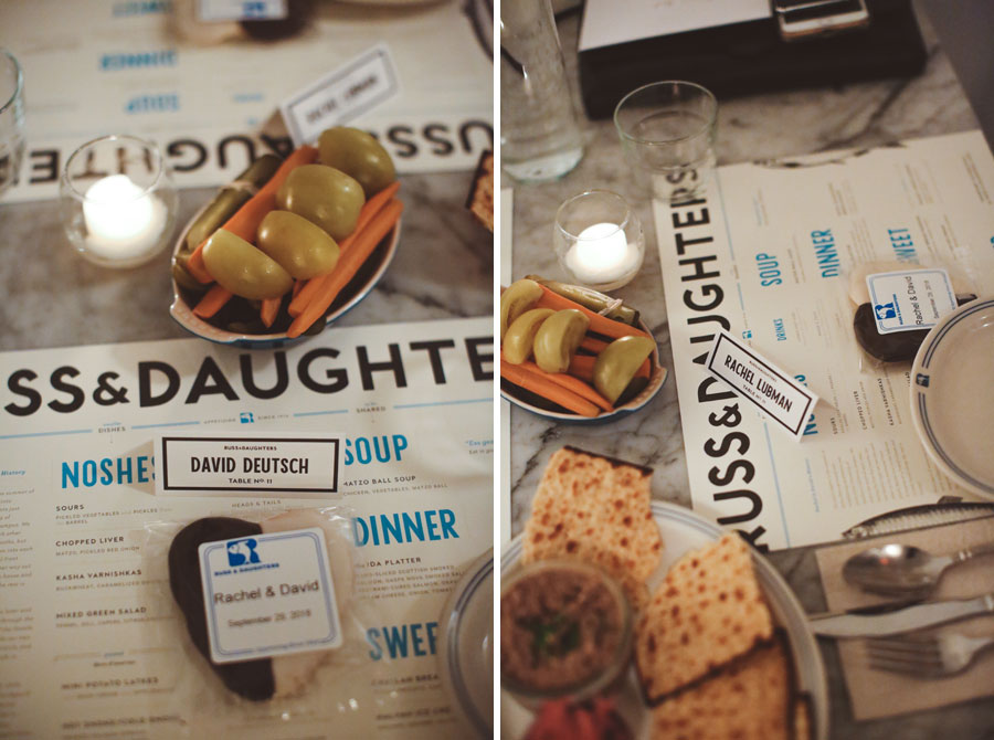 Russ & Daughters Wedding details