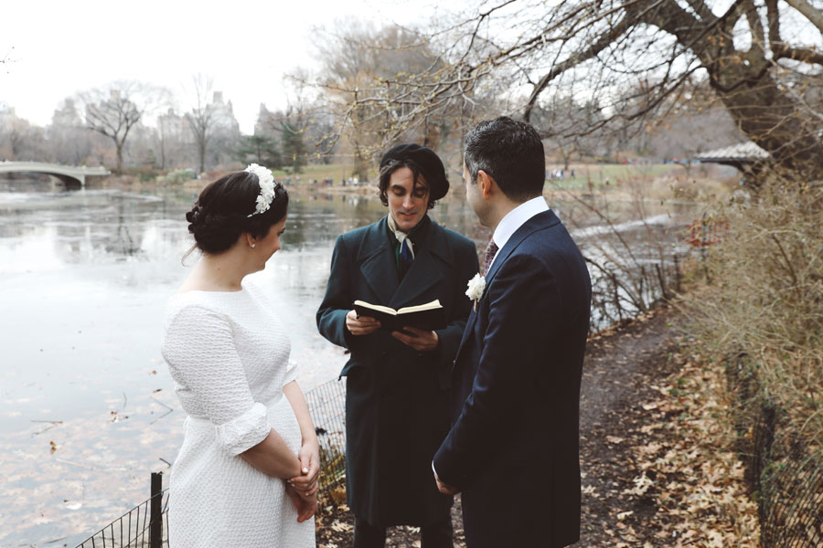 Central Park Wedding with officiant
