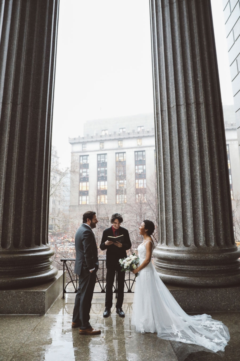 New York City Elopement Photography and officiant