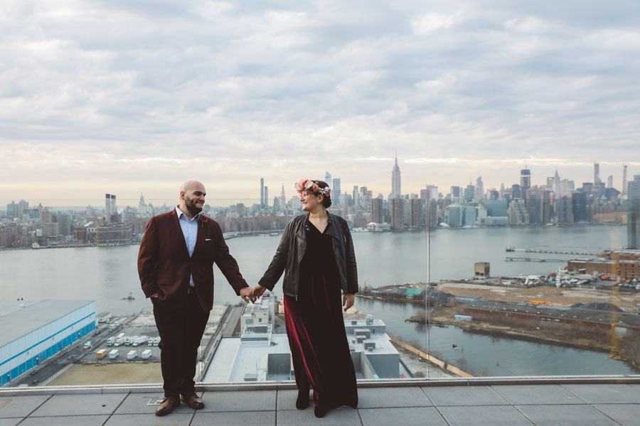 Brooklyn elopement William Vale Hotel