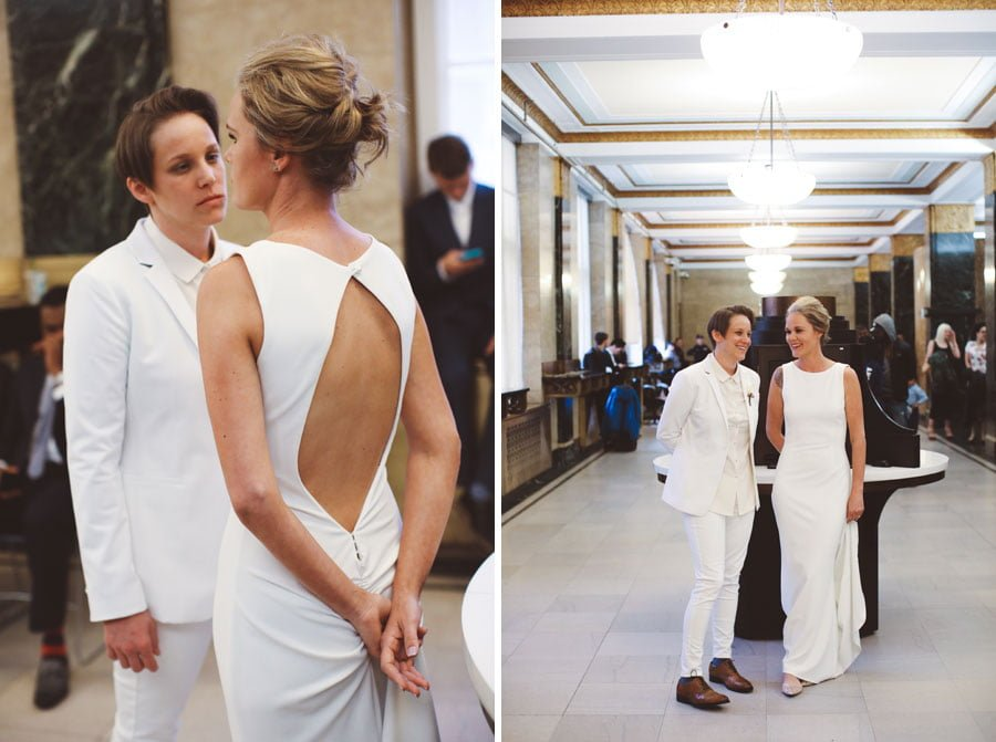 Same sex city hall wedding