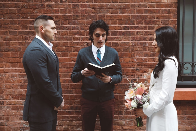 elopement officiant and photos in tribeca