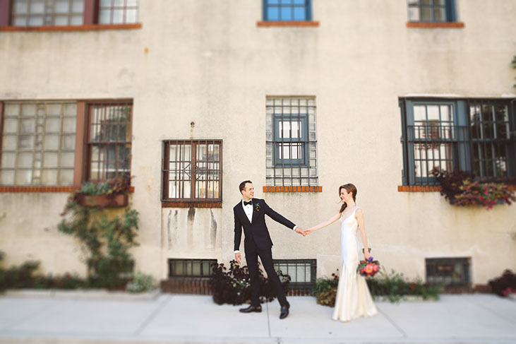 NYC wedding photographers with an editorial style